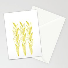 Growing Leaves: Golden Yellow – White background Stationery Cards