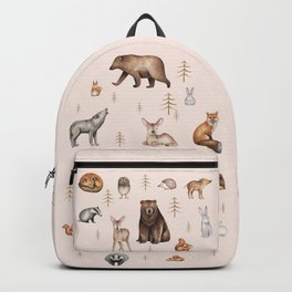 Scandinavian forest animals Backpack