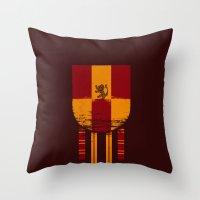 gryffindor Throw Pillows featuring gryffindor crest by nisimalotse