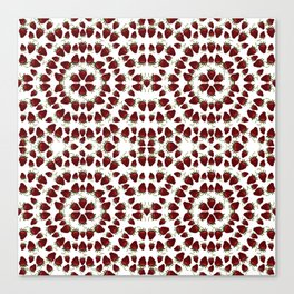 Red, Ripe Strawberries in a repeating pattern Canvas Print