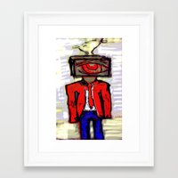 suit Framed Art Prints featuring Suit by Keith Cameron