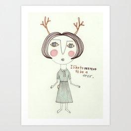 The Great Deer Pretender. Art Print