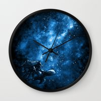discworld Wall Clocks featuring Cosmic Turtle by Crumblin' Cookie