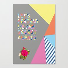 Secret Agent Canvas Print