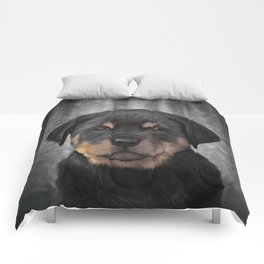 Drawing Puppy rottweiler Comforters