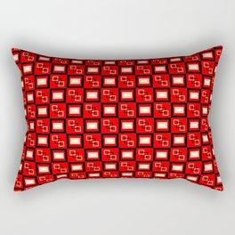 Pattern Cube Red Rectangular Pillow