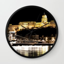 Budapest Chain Bridge And Castle Art Wall Clock