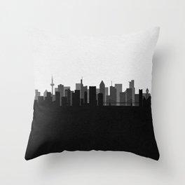 City Skylines: Frankfurt am Main Throw Pillow
