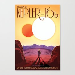 Relax on Kepler 16b vacation advert Canvas Print