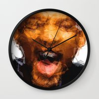 melissa smith Wall Clocks featuring Will Smith by Alice Z.