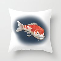 koi Throw Pillows featuring Koi by Ken Coleman