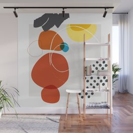 Shape & Hue Series No. 2 – Yellow, Orange & Blue Modern Abstract Wall Mural