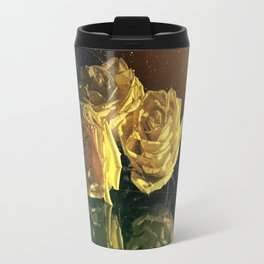 Yellow Vintage Roses Travel Mug