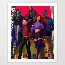 Titans Art Print
