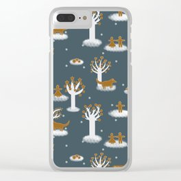 The gingerbread forrest - Fabric pattern Clear iPhone Case
