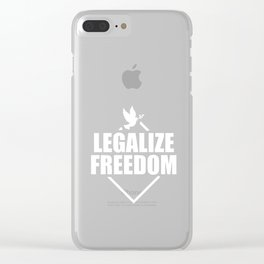 US History Shirt American Revolution Legalize Freedom Clear iPhone Case