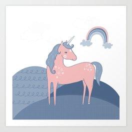 Unicorn hills Art Print
