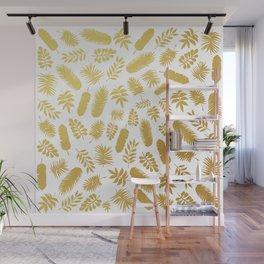 el dorado // gold leaf pattern Wall Mural