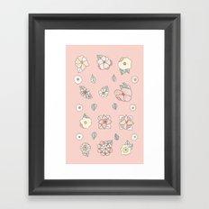 Flores Framed Art Print