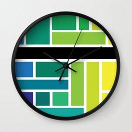 City Tiles Wall Clock
