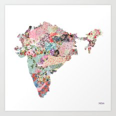 India map Art Print