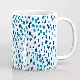 Blue Watercolor Spots - Brushstrokes Pattern Coffee Mug