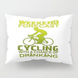 WEEKEND FORECAST CYCLING Pillow Sham