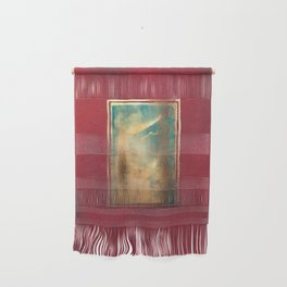 Deep Red, Gold, Turquoise Blue Wall Hanging