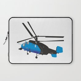 Black and Blue Helicopter Laptop Sleeve