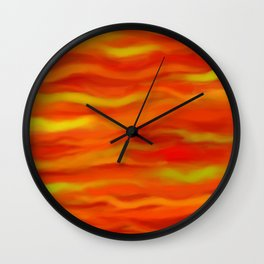 Pumpkin Spice and Butternut Squash Abstract Wall Clock