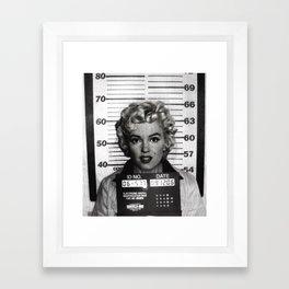 Monroe Mugshot Framed Art Print