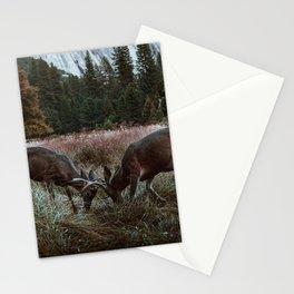 Yosemite Bucks Locking Horns Stationery Cards