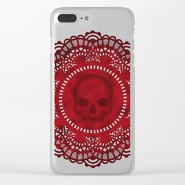 Skull doily Clear iPhone Case