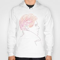 bowie Hoodies featuring Bowie by Bruno Gabrielli