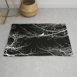 The Lonely Bird in the Tree II Rug