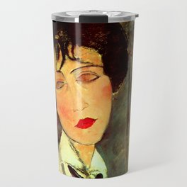 "Amedeo Modigliani ""Woman in Black Tie"" Travel Mug"