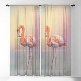 American Flamingo Sheer Curtain