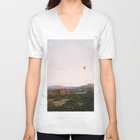 hot air balloon V-neck T-shirts featuring Hot Air Balloon #1 by Alden Terry