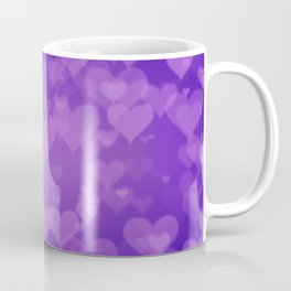 Soft Purple Hearts On Graduated Background. Valentines Day Concept Coffee Mug