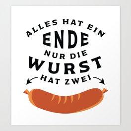 German Sausage Oktoberfest Art Print