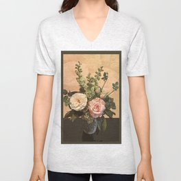 Rose Painting Unisex V-Neck