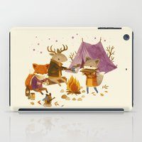 fall iPad Cases featuring Critters: Fall Camping by Teagan White