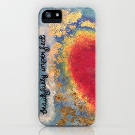 Beautifully Imperfect iPhone Case