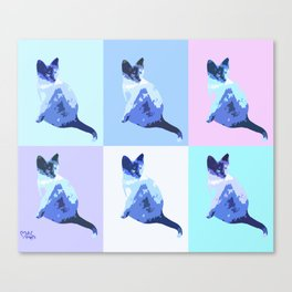Blue Yoshis Canvas Print