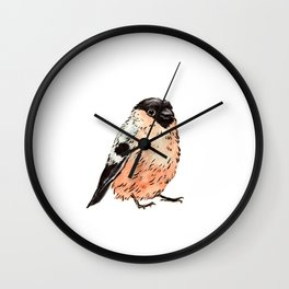 Orange and Black Bird Wall Clock