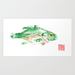 Sunfish color Art Print