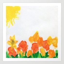 Watercolor Floral Series B Art Print