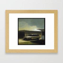 Her Old Volvo Framed Art Print