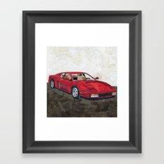 Ferrari Testarossa Framed Art Print