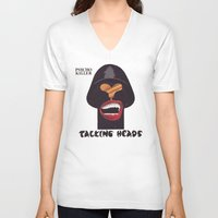talking heads V-neck T-shirts featuring Talking Heads by Popp Art